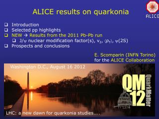 ALICE results on  quarkonia
