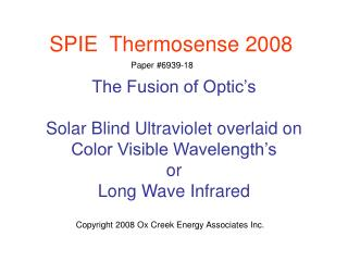 SPIE  Thermosense 2008