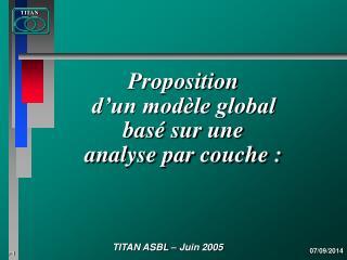 Proposition d'un modèle global basé sur une  analyse par couche :