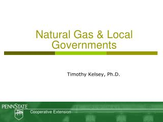 Natural Gas  Local Governments
