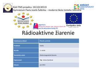 Rádioaktívne žiarenie