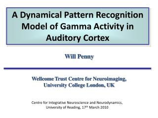 A Dynamical Pattern Recognition Model of Gamma Activity in Auditory Cortex