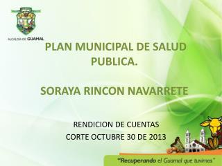 PLAN MUNICIPAL DE SALUD PUBLICA. SORAYA RINCON NAVARRETE