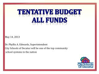 Tentative budget  all funds