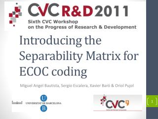 Introducing the  Separability  Matrix for ECOC coding