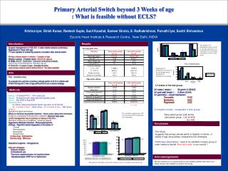 Primary Arterial Switch beyond 3 Weeks of age   : What is feasible without ECLS?