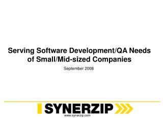 Serving Software Development/QA Needs of Small/Mid-sized Companies