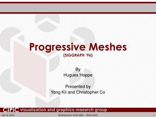Progressive Meshes (SIGGRAPH '96)