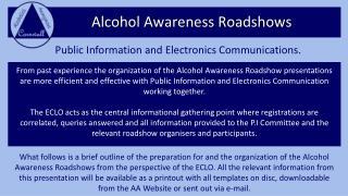 Alcohol Awareness Roadshows