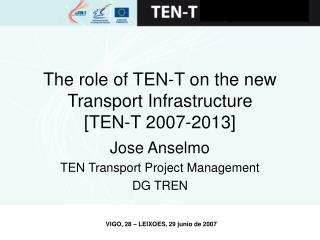The role of TEN-T on the new Transport Infrastructure         [TEN-T 2007-2013]