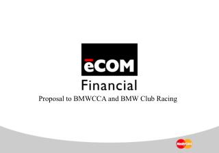 Proposal to BMWCCA and BMW Club Racing