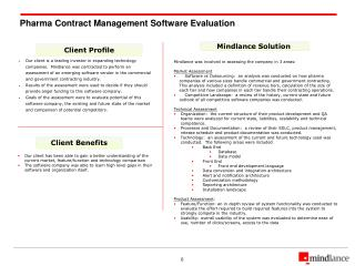 Pharma Contract Management Software Evaluation