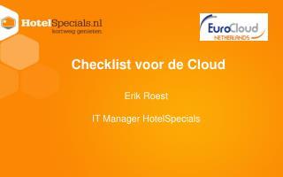 Checklist  voor  de Cloud