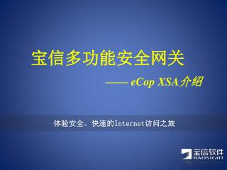 宝信多功能安全网关 —— eCop XSA 介绍