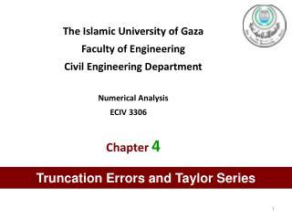 The Islamic University of Gaza Faculty of Engineering Civil Engineering Department