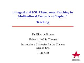 Bilingual and ESL Classrooms: Teaching in Multicultural Contexts – Chapter 3 Teaching