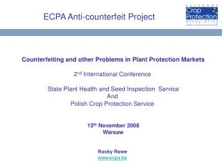 ECPA Anti-counterfeit Project