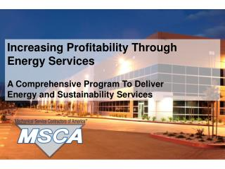 Increasing Profitability Through Energy Services
