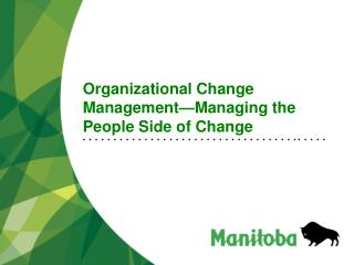 Organizational Change Management Managing the People Side of Change