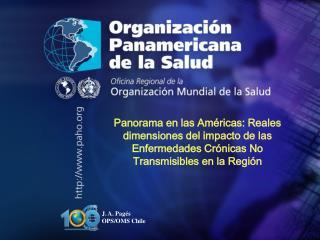 J. A. Pagés  OPS/OMS Chile
