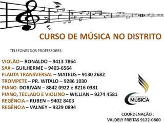 Curso de música no Claudio Santoro