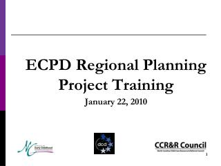 ECPD Regional Planning Project Training