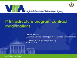 IT Infrastructure program contract modifications
