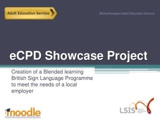 eCPD  Showcase Project