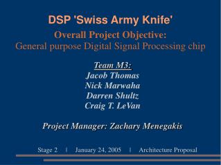 DSP 'Swiss Army Knife'