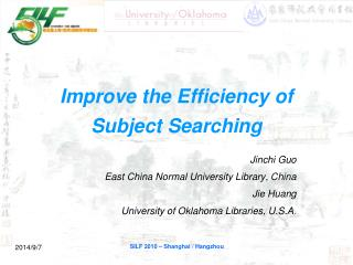 Improve the Efficiency of Subject Searching