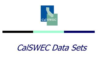 CalSWEC Data Sets