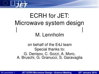 ECRH for JET: Microwave system design