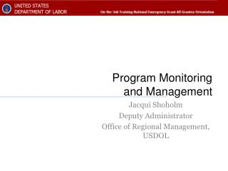 Program Monitoring and Management