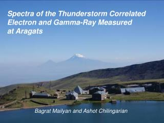 Spectra of the Thunderstorm Correlated  Electron and Gamma-Ray Measured  at Aragats