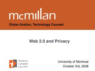 Web 2.0 and Privacy