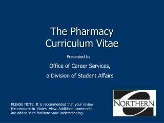 The Pharmacy  Curriculum Vitae