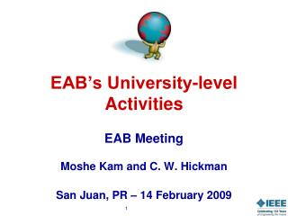 EAB's University-level Activities