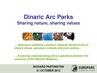 Dinaric Arc Parks Sharing  nature, sharing values