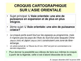 CROQUIS CARTOGRAPHIQUE SUR L ASIE ORIENTALE