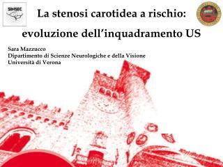 La stenosi carotidea a rischio: evoluzione dell�inquadramento US