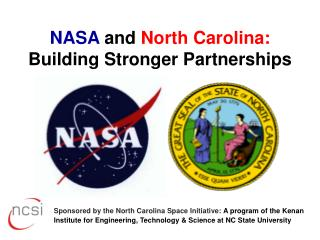 NASA  and  North Carolina: Building Stronger Partnerships