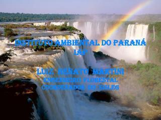 INSTITUTO AMBIENTAL DO PARANÁ IAP Luiz  Renato  Martini Engenheiro  Florestal