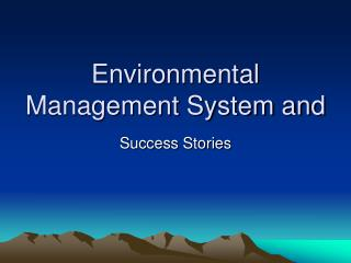 Environmental Management System and