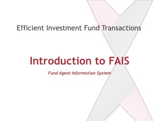 Introduction to FAIS