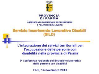 Servizio Inserimento Lavorativo Disabili (SILD)
