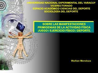 UNIVERSIDAD NACIONAL EXPERIMENTAL DEL YARACUY  VICERECTORADO ESPACIO ACAD MICO CIENCIAS DEL DEPORTE SOCIOLOG A DEL DEPOR