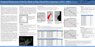 Temporal Reduction of the Ice Shelf in Pine  Island Bay  Antarctica: 1972 - 2003