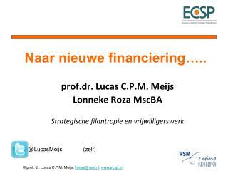 prof.dr . Lucas C.P.M. Meijs Lonneke  Roza MscBA Strategische filantropie en vrijwilligerswerk