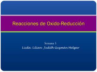 Reacciones de Oxido-Reducci�n
