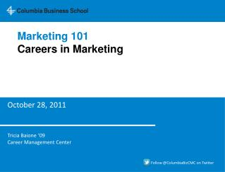 Marketing 101 Careers in Marketing